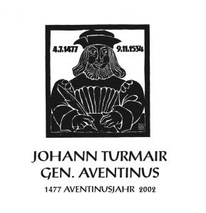 "Buchdeckel Moritat: ""Johann Turmair genannt Aventinus"""