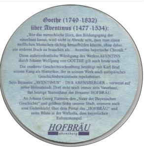 Bierdeckel Hofbräu Abensberg