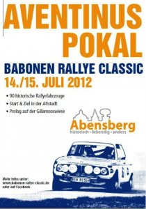 Plakat Aventinus Pokal der Babonen Rallye