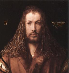 Selbstbildnis Dürer; Alte Pinakothek, München.