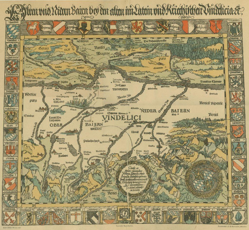 Aventinus fertigte die erste Landkarte Bayerns, 1523
