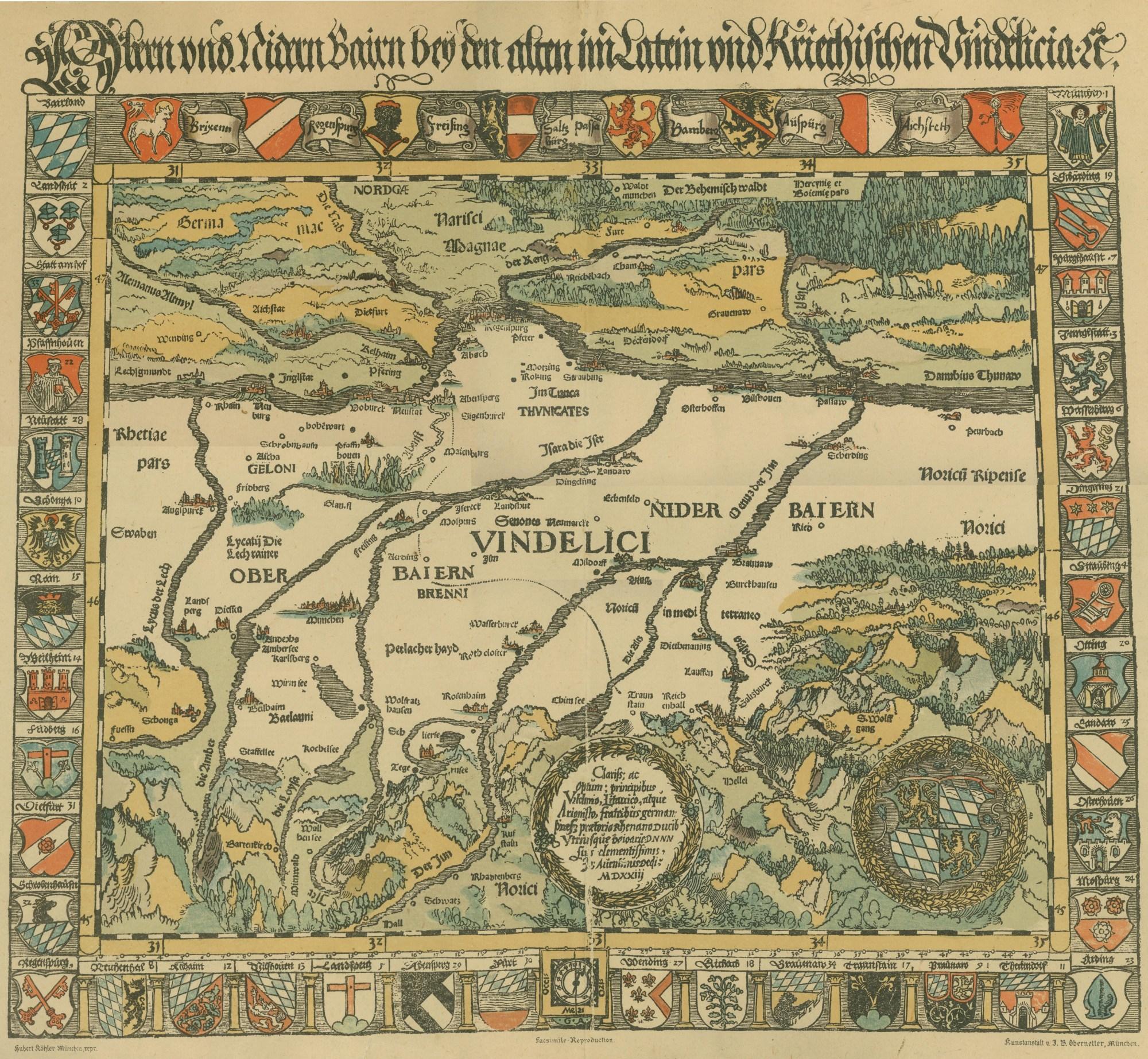 Die erste Landkarte Bayerns