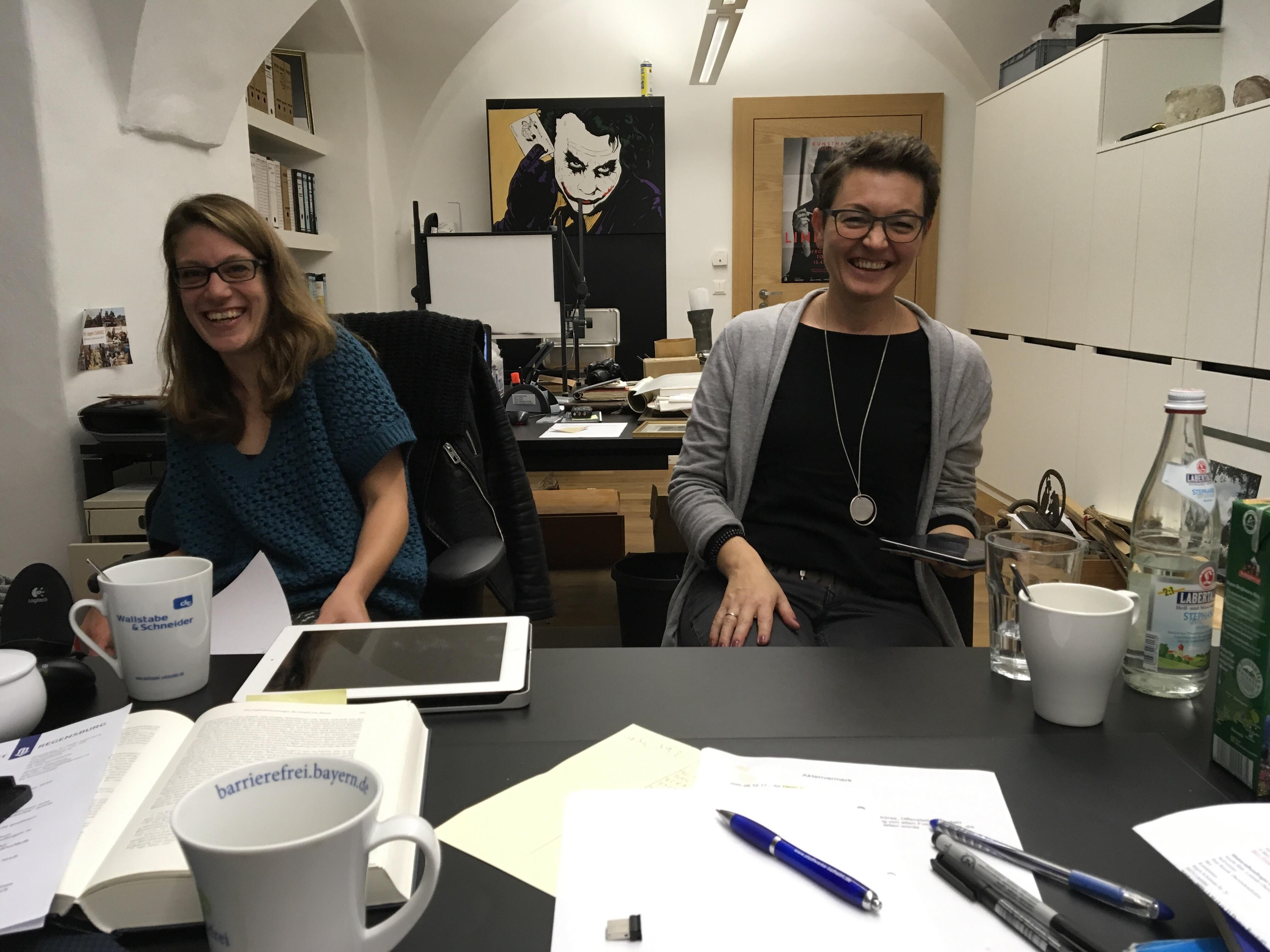 Bild von der ersten Besprechung für das Projekt