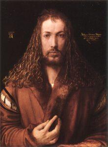 Selbstportrait von Albrecht Dürer, Alte Pinakothek, München.