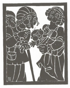 Ferdinand Kieslinger, Aventinus-Moritat: Das 1. Stuck - Geburt