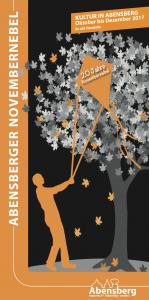 Flyer zum Abensberger Novembernebel