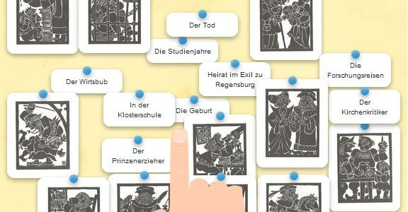 Teste dein Wissen: Ordne Aventins Lebensstationen Bildern zu